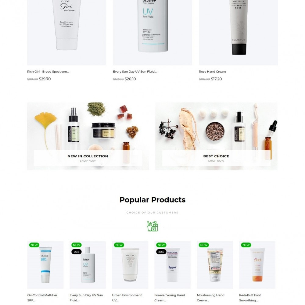 theme - Health & Beauty - Floral Cosmetics - 4