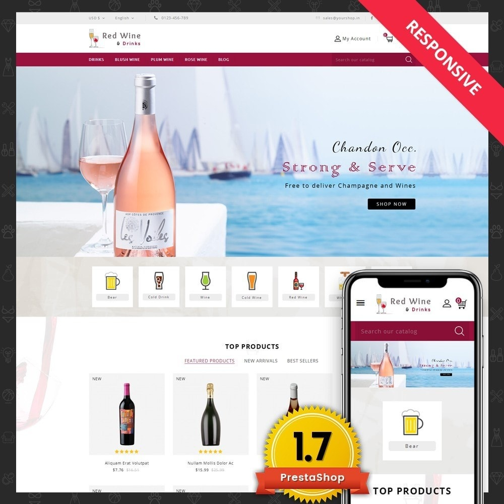 theme - Boissons & Tabac - Red Wine Online Store - 1