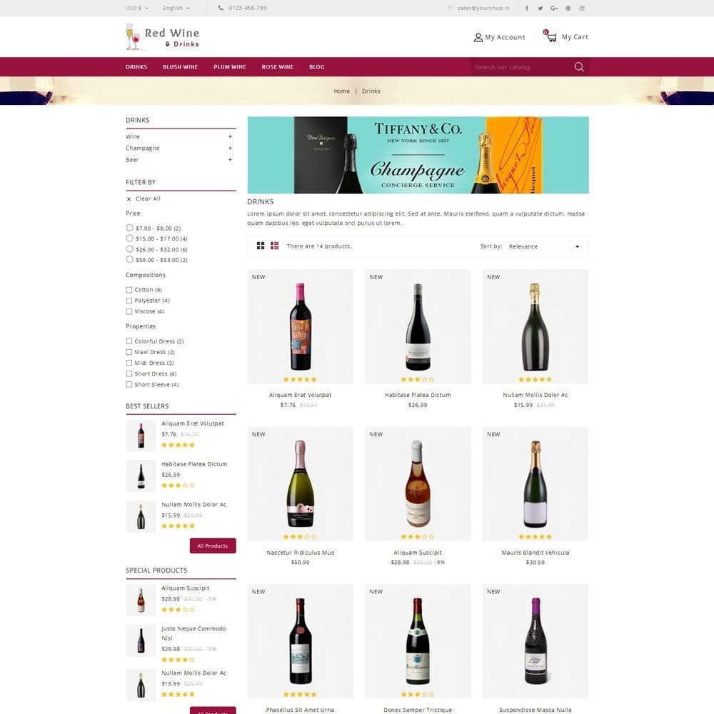 theme - Boissons & Tabac - Red Wine Online Store - 3