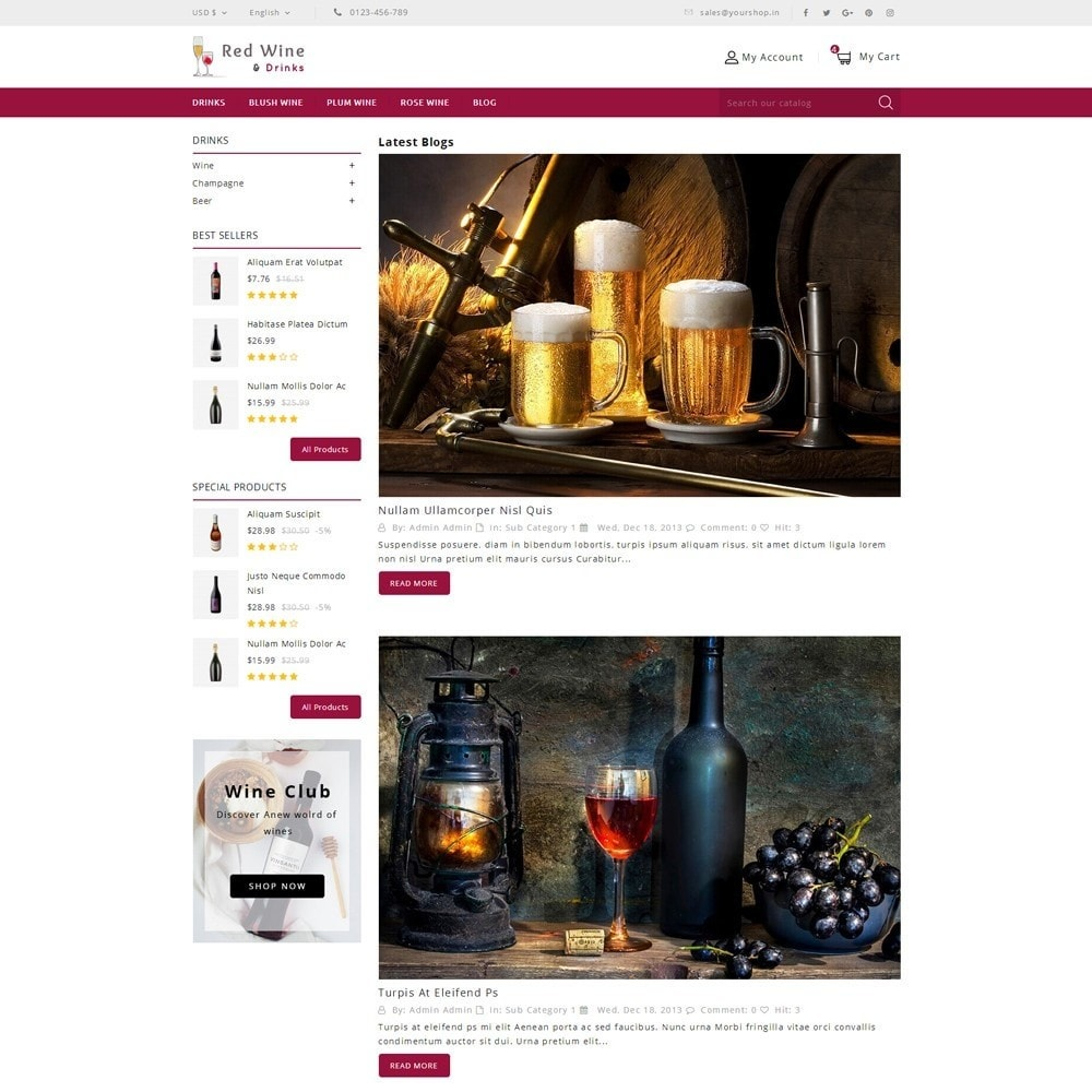 theme - Getränke & Tabak - Red Wine Online Store - 10
