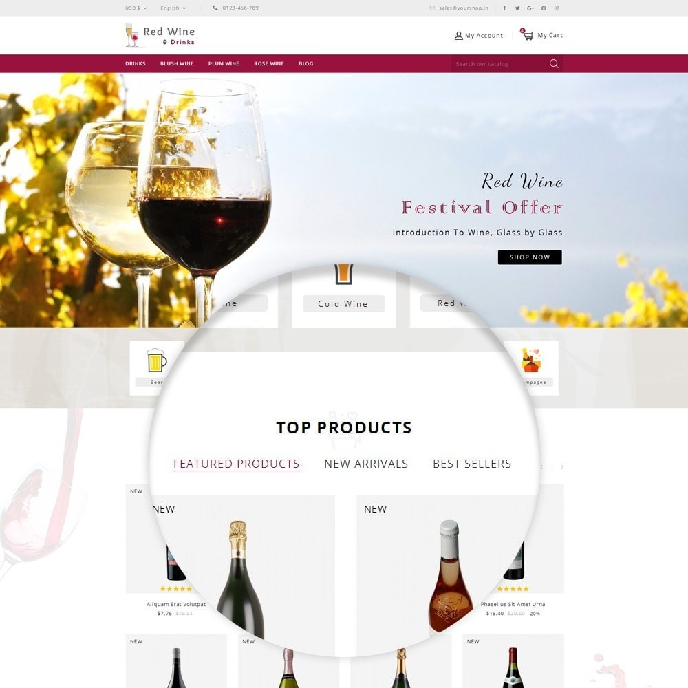 theme - Boissons & Tabac - Red Wine Online Store - 11