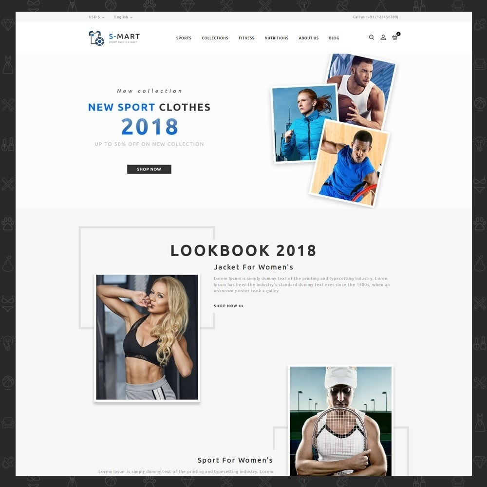 theme - Мода и обувь - Shop Mart Sports Fashion - 2