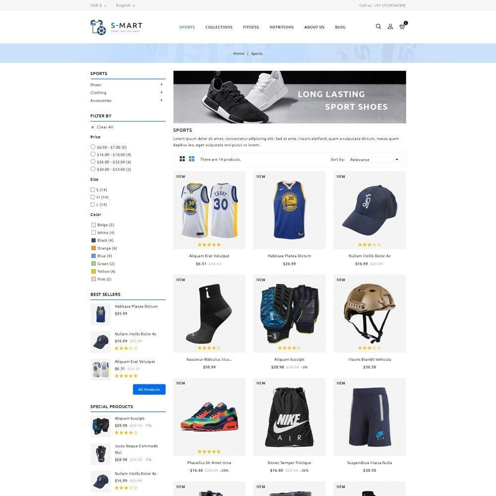 theme - Moda y Calzado - Shop Mart Sports Fashion - 3