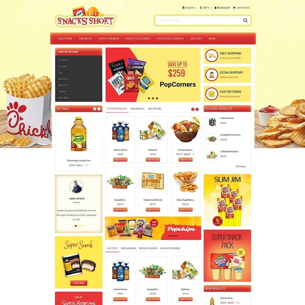 theme - Food & Restaurant - Snacksshort Food Store - 2