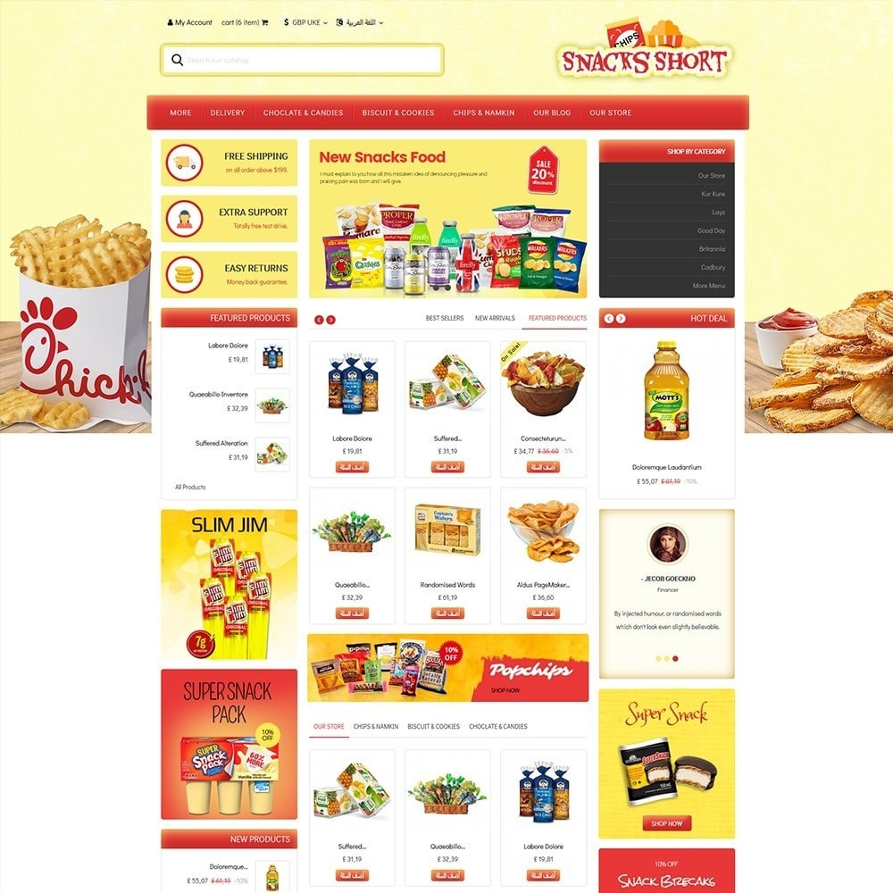 theme - Food & Restaurant - Snacksshort Food Store - 3