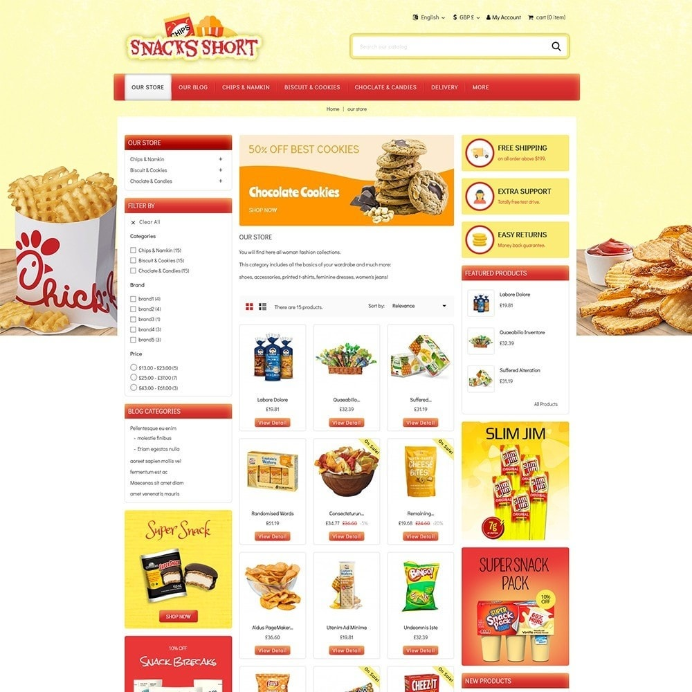 theme - Food & Restaurant - Snacksshort Food Store - 4