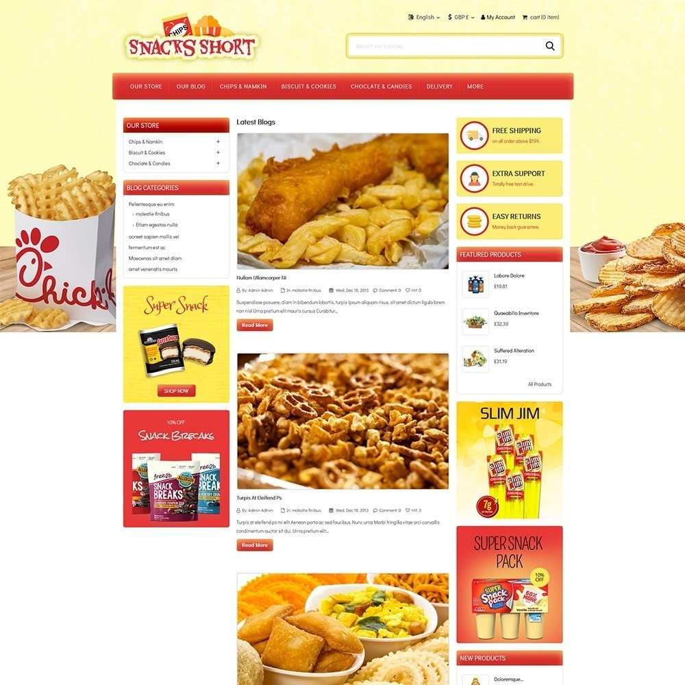 theme - Lebensmittel & Restaurants - Snacksshort Food Store - 5