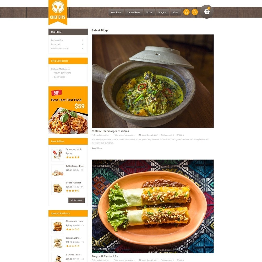 theme - Alimentation & Restauration - Chefbits Foot Store - 7