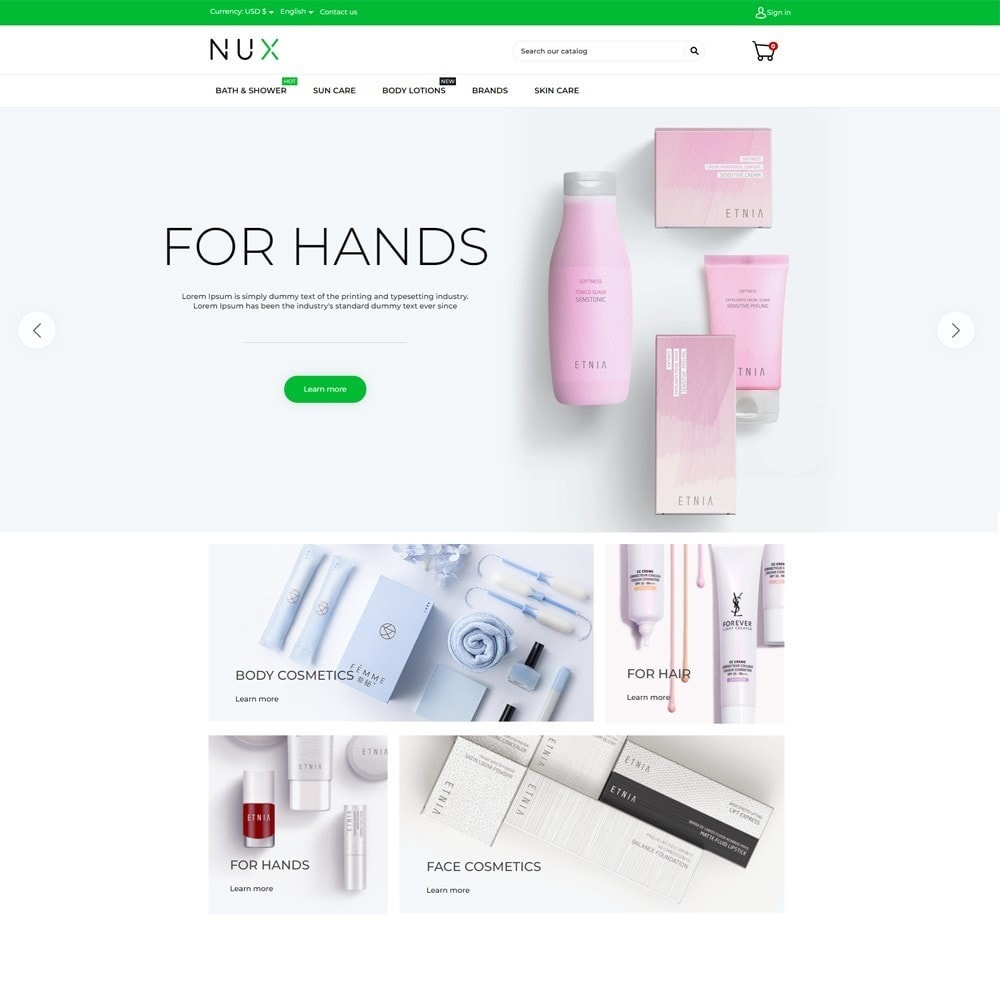 theme - Health & Beauty - Nux Cosmetics - 2