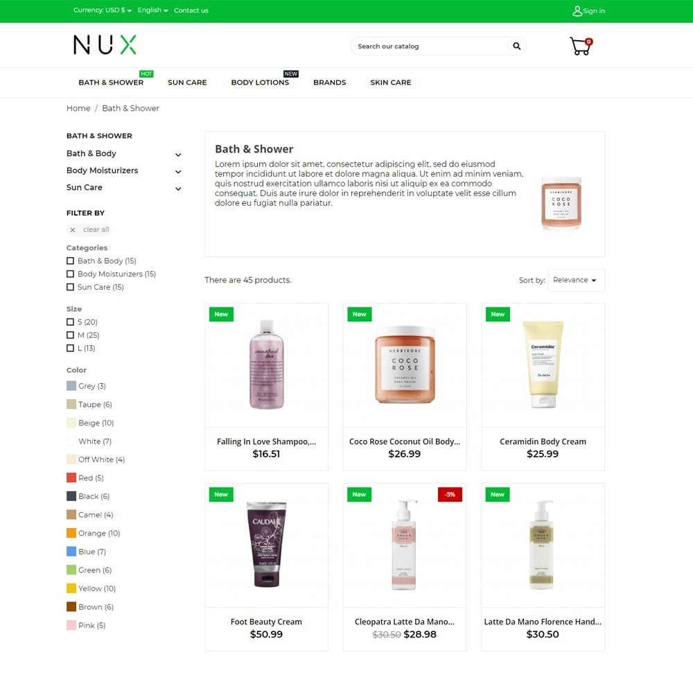 theme - Salute & Bellezza - Nux Cosmetics - 6