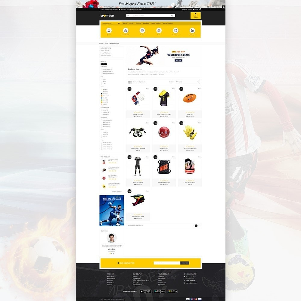theme - Sports, Activities & Travel - SportyGo– Sport Super Store - 3