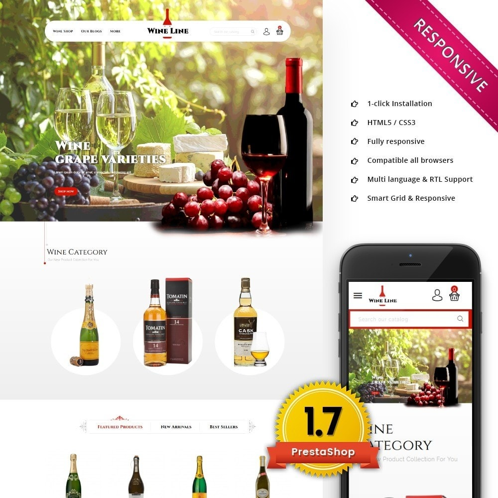 theme - Bebidas & Tabaco - Wineline - Alcohol Shop - 1