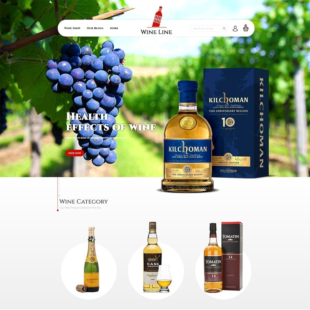 theme - Drink & Tobacco - Wineline - Alcohol Shop - 2