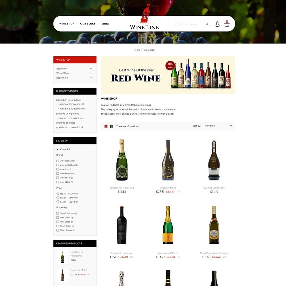 theme - Drink & Wine - Wineline - Alcohol Shop - 4
