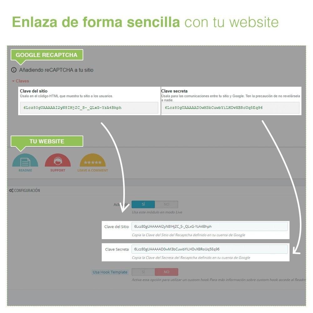 module - Seguridad y Accesos - re Captcha Formulario de Registro y Contacto - AntiSpam - 4