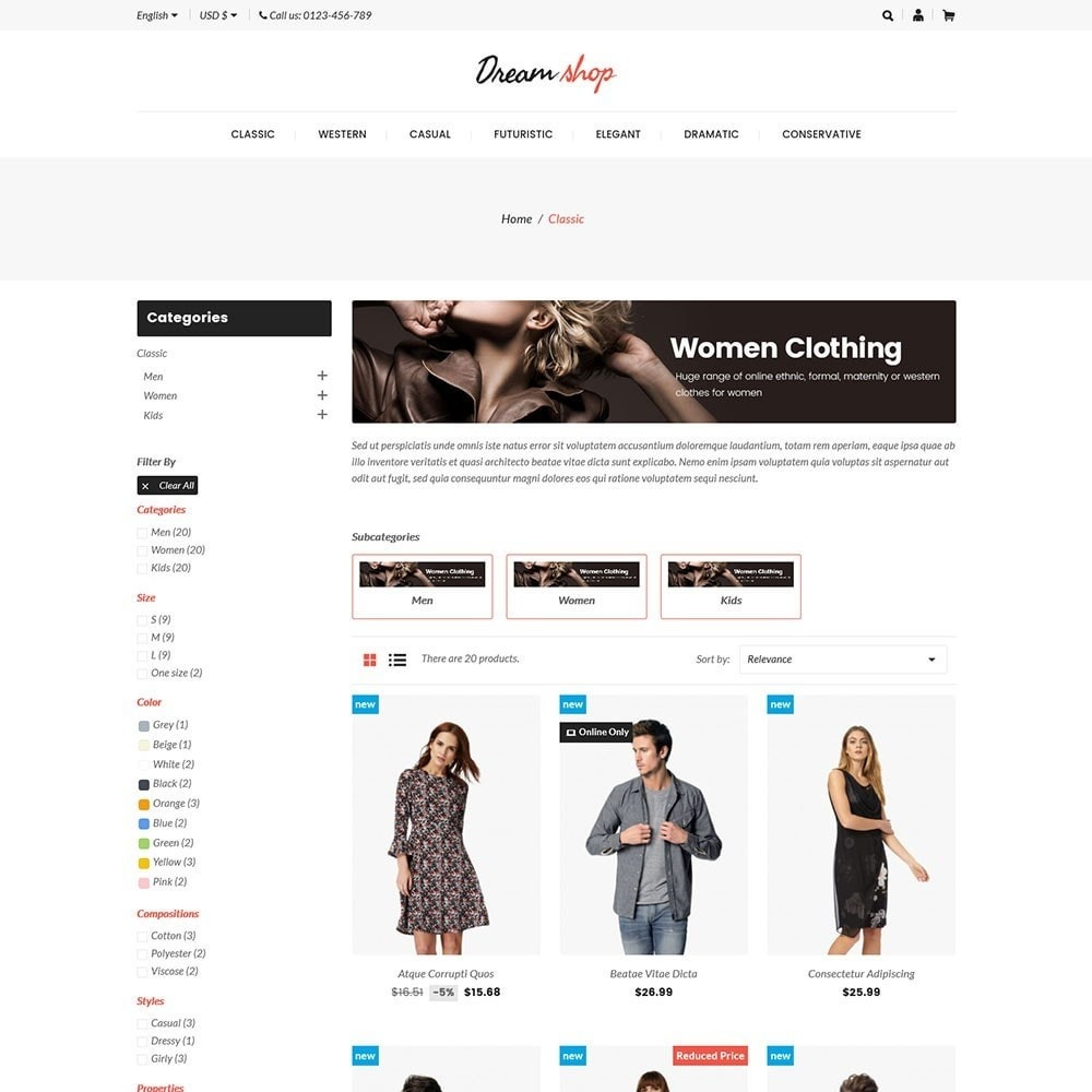 theme - Mode & Schoenen - Dreamshop - Fashion Online Store - 3
