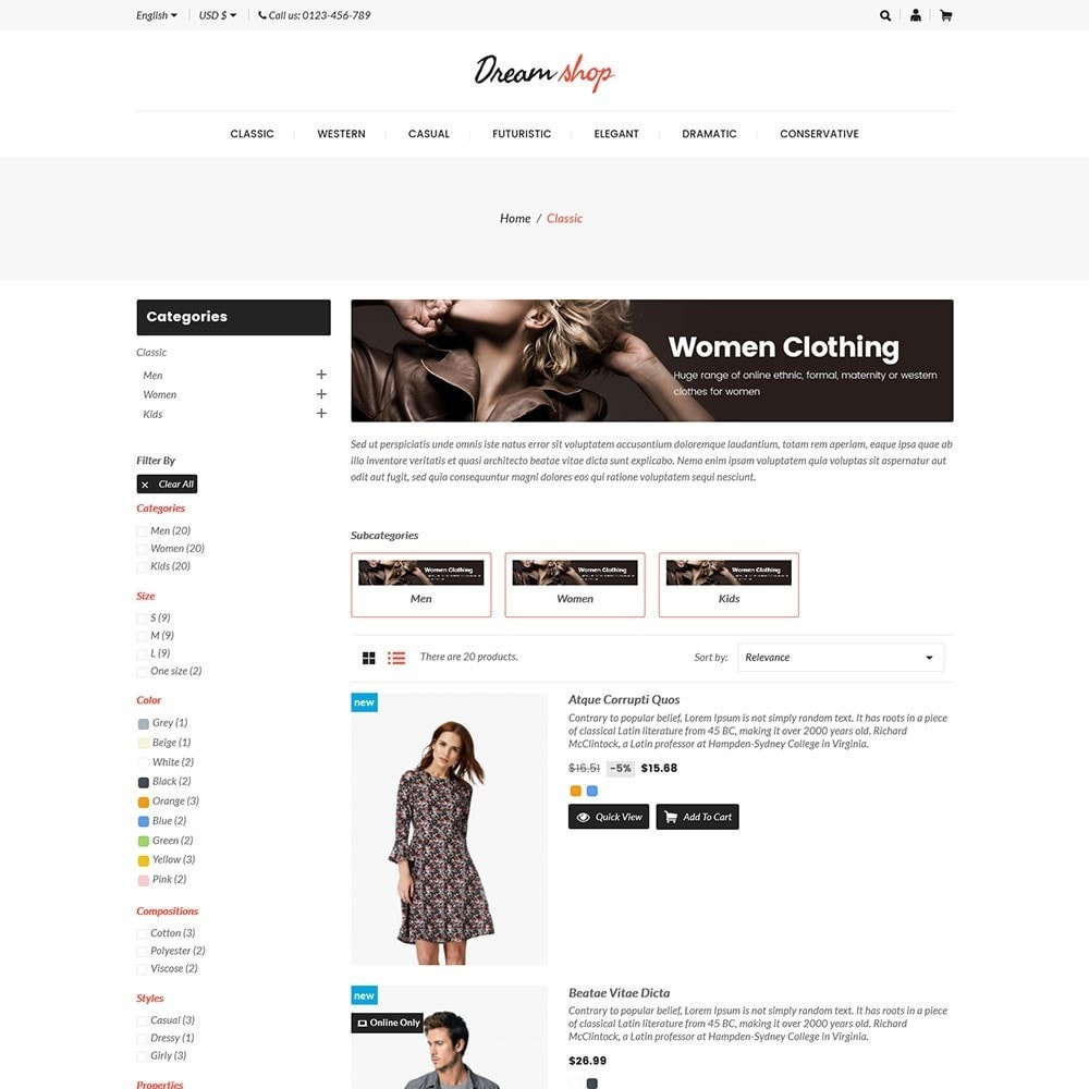 theme - Mode & Schoenen - Dreamshop - Fashion Online Store - 4