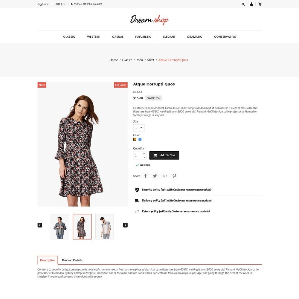 theme - Mode & Schoenen - Dreamshop - Fashion Online Store - 5
