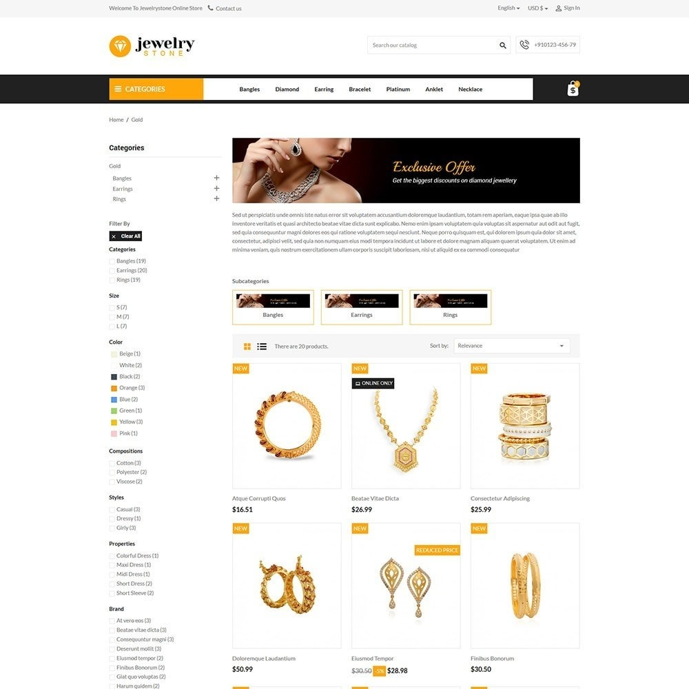 theme - Bijoux & Accessoires - Jewelrystone - Jewelry Online Store - 3