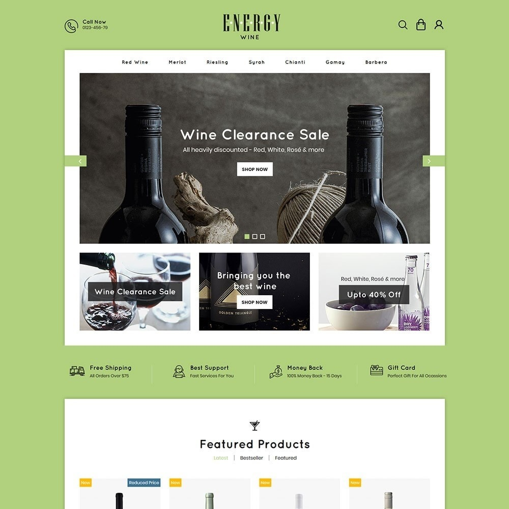 theme - Drink & Tobacco - Energywine - Wine Online Store - 2