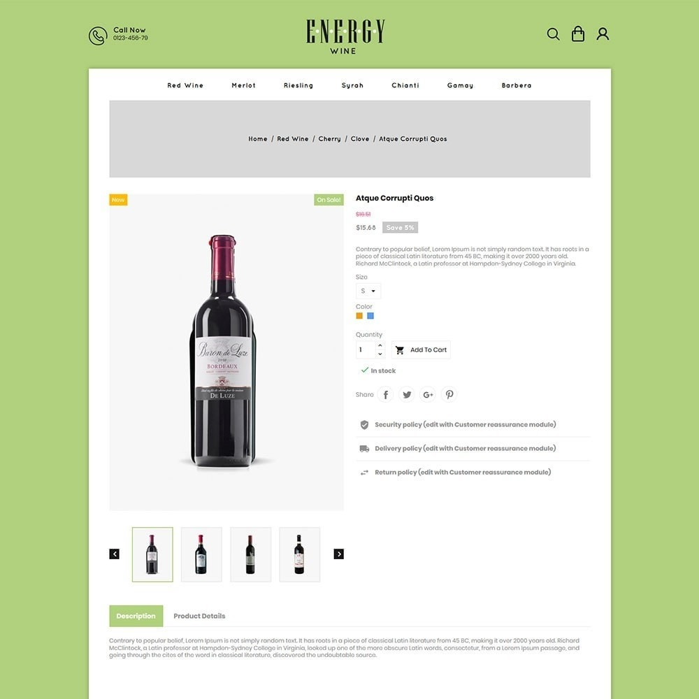 theme - Drink & Tobacco - Energywine - Wine Online Store - 5