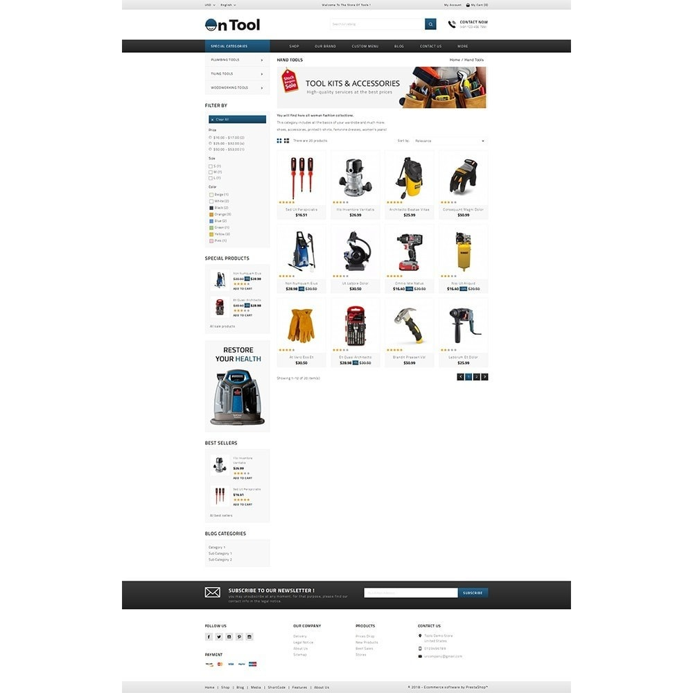 theme - Авто и Мото - OnTool Store - 3