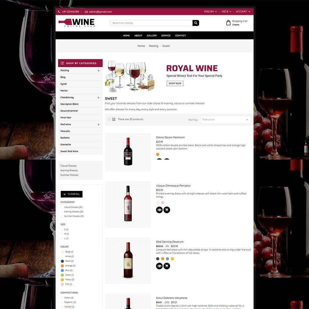 theme - Drink & Tobacco - Wine Store - 5