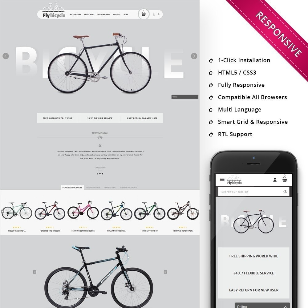 theme - Automotive & Cars - Flybicycle Store - 1