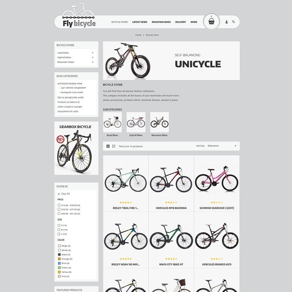 theme - Automotive & Cars - Flybicycle Store - 4