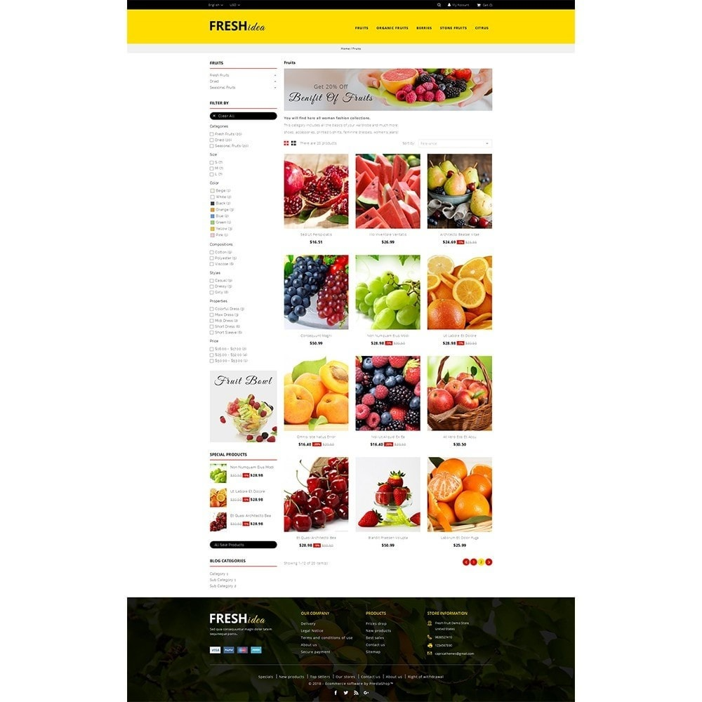 theme - Alimentation & Restauration - Fresh Fruit Store - 3