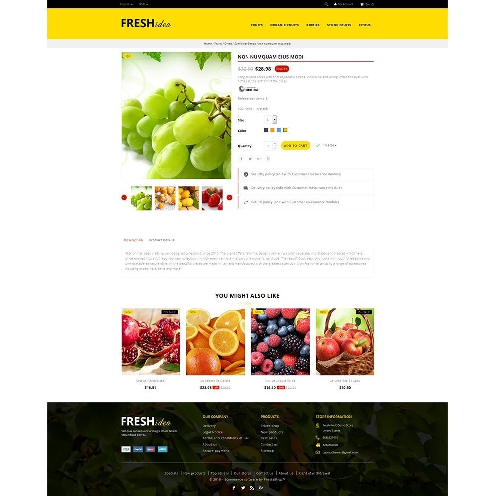 theme - Alimentation & Restauration - Fresh Fruit Store - 5