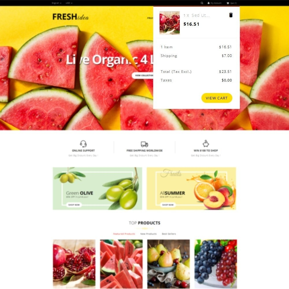 theme - Lebensmittel & Restaurants - Fresh Fruit Store - 8