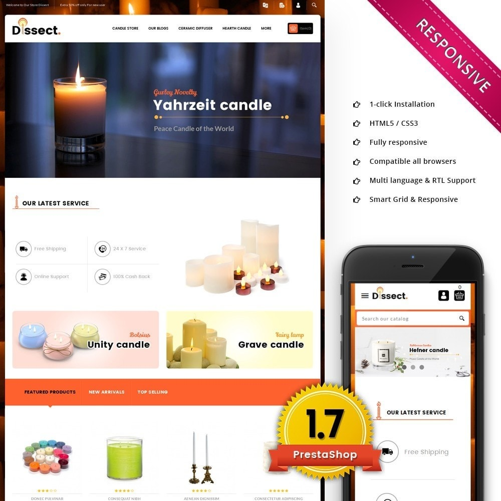 theme - Dom & Ogród - Dissect Candle Store - 1