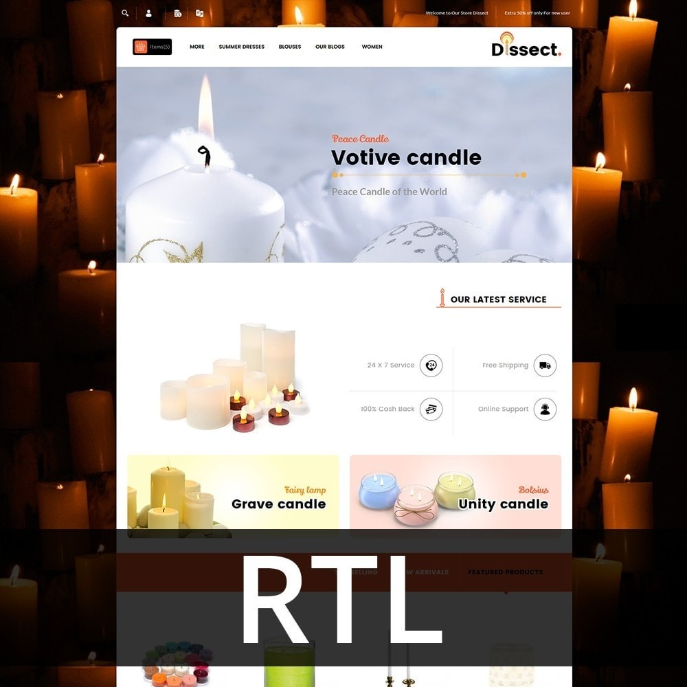 theme - Дом и сад - Dissect Candle Store - 3