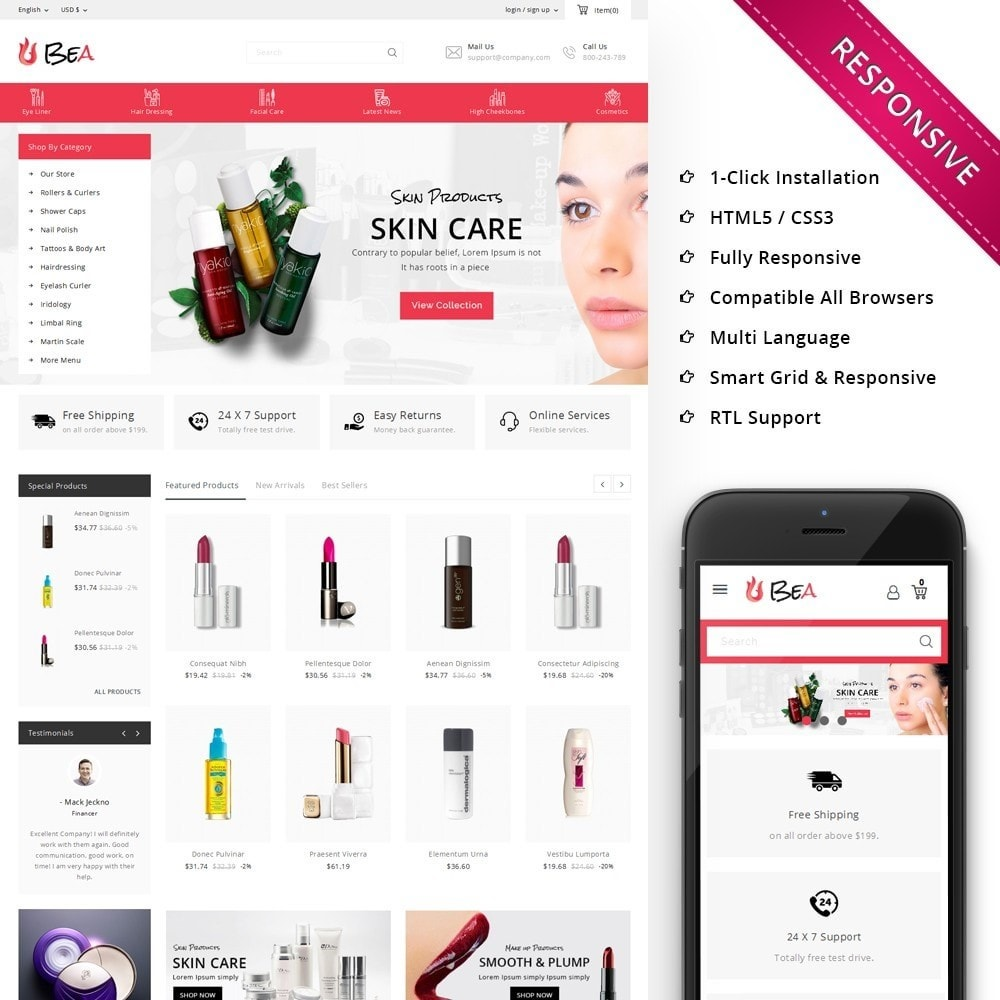 theme - Здоровье и красота - Beashop Beauty Store - 1