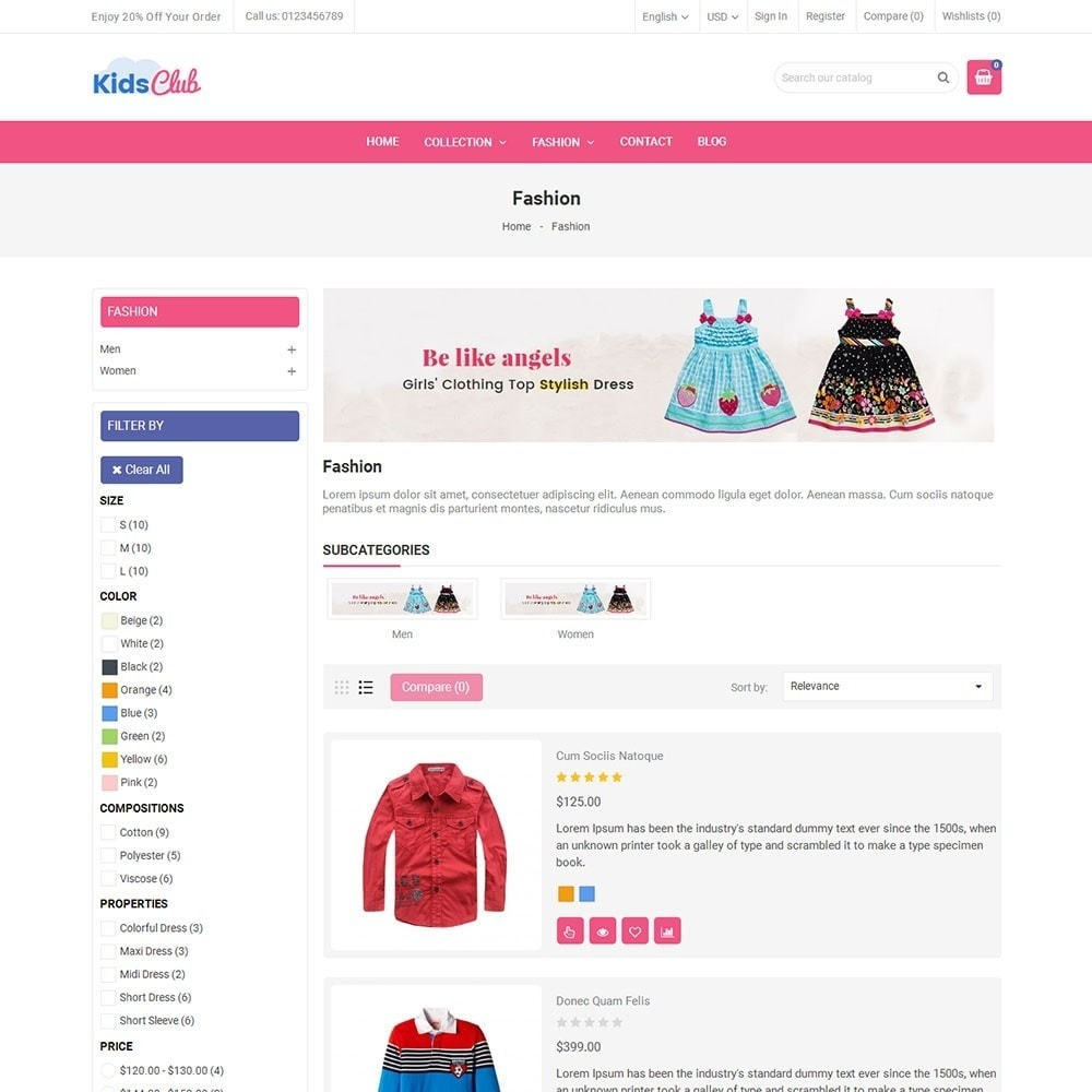 theme - Moda & Calzature - Kids Club Fashion Store - 4
