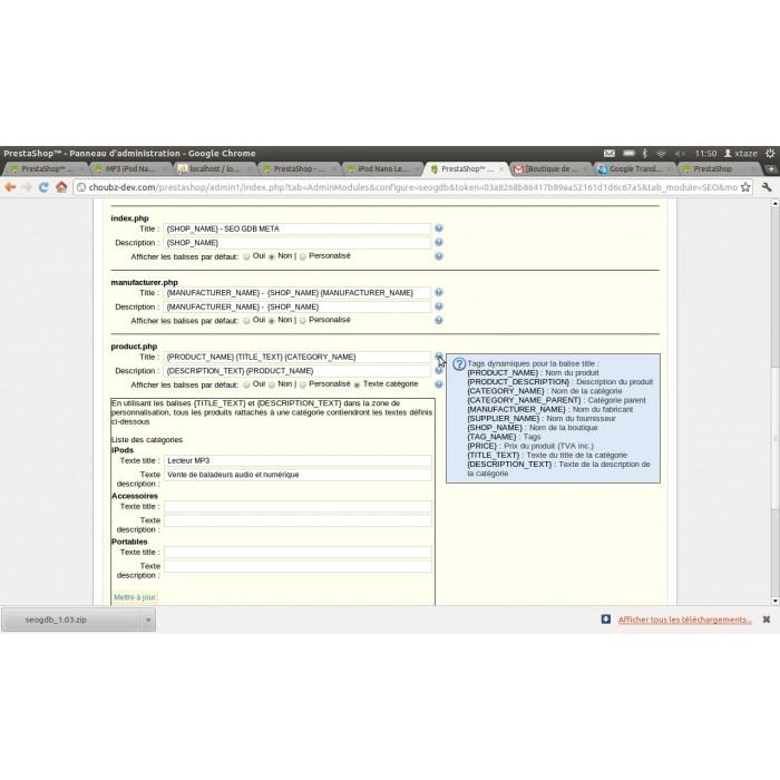 module - SEO (Posicionamiento en buscadores) - Seogdb Meta - 1