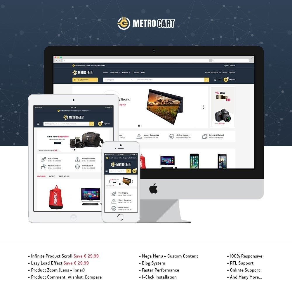theme - Elettronica & High Tech - Metro Digital Store - 1