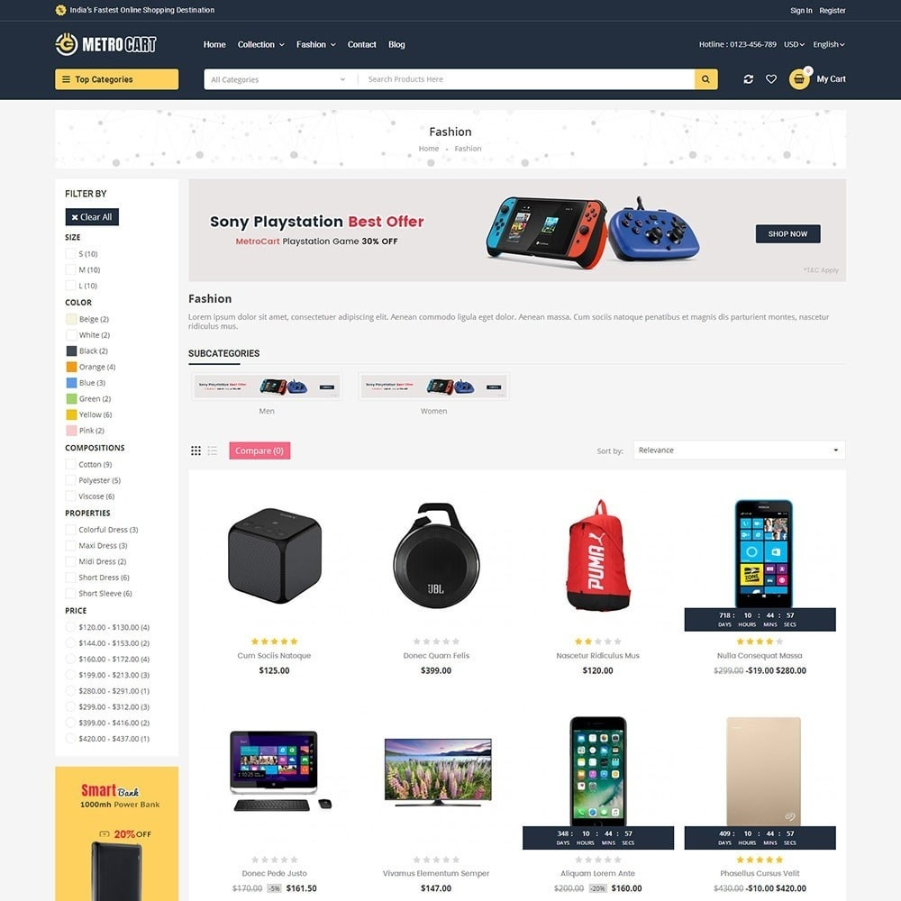 theme - Elettronica & High Tech - Metro Digital Store - 3