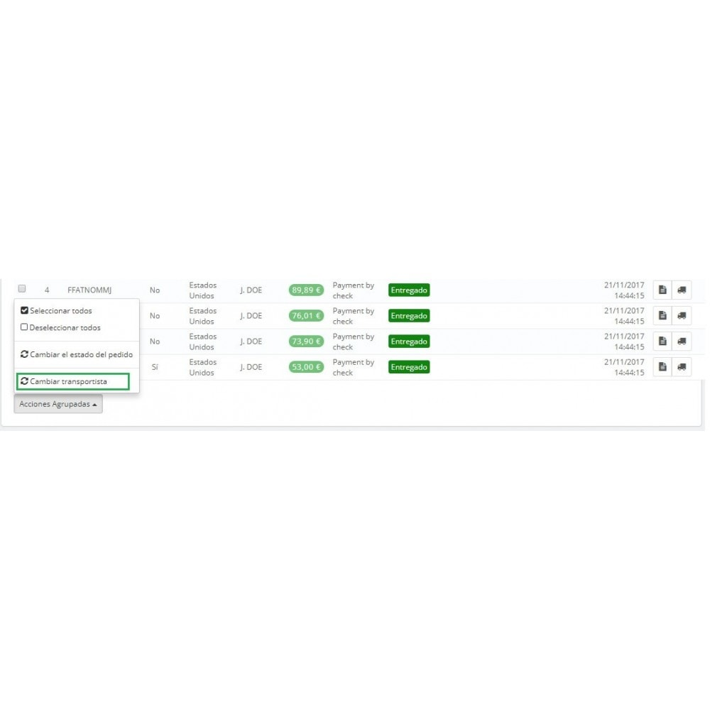 module - Edición Rápida y Masiva - Cambiar transportista de pedidos de forma masiva - 2