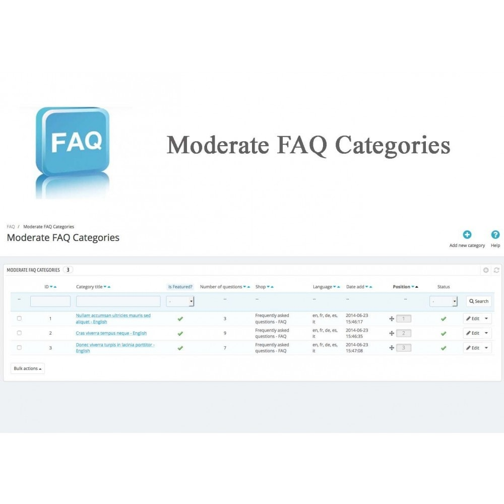 module - Preguntas Frecuentes - Frequently asked questions - FAQ - 18