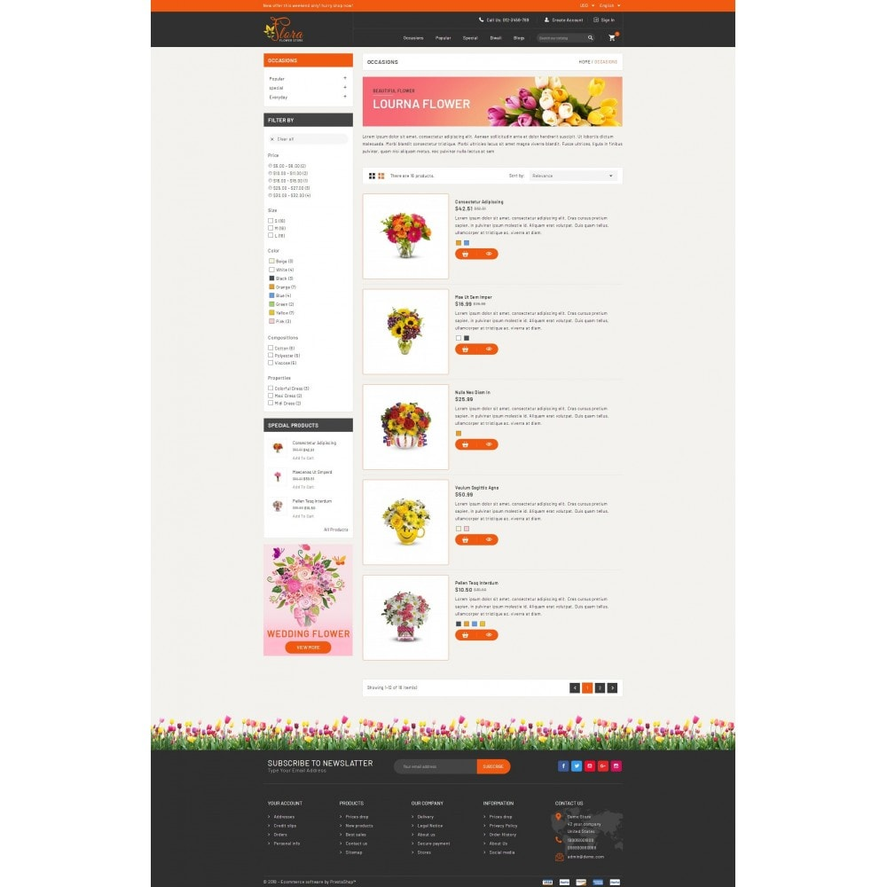theme - Gifts, Flowers & Celebrations - Flora - Flower Store - 4