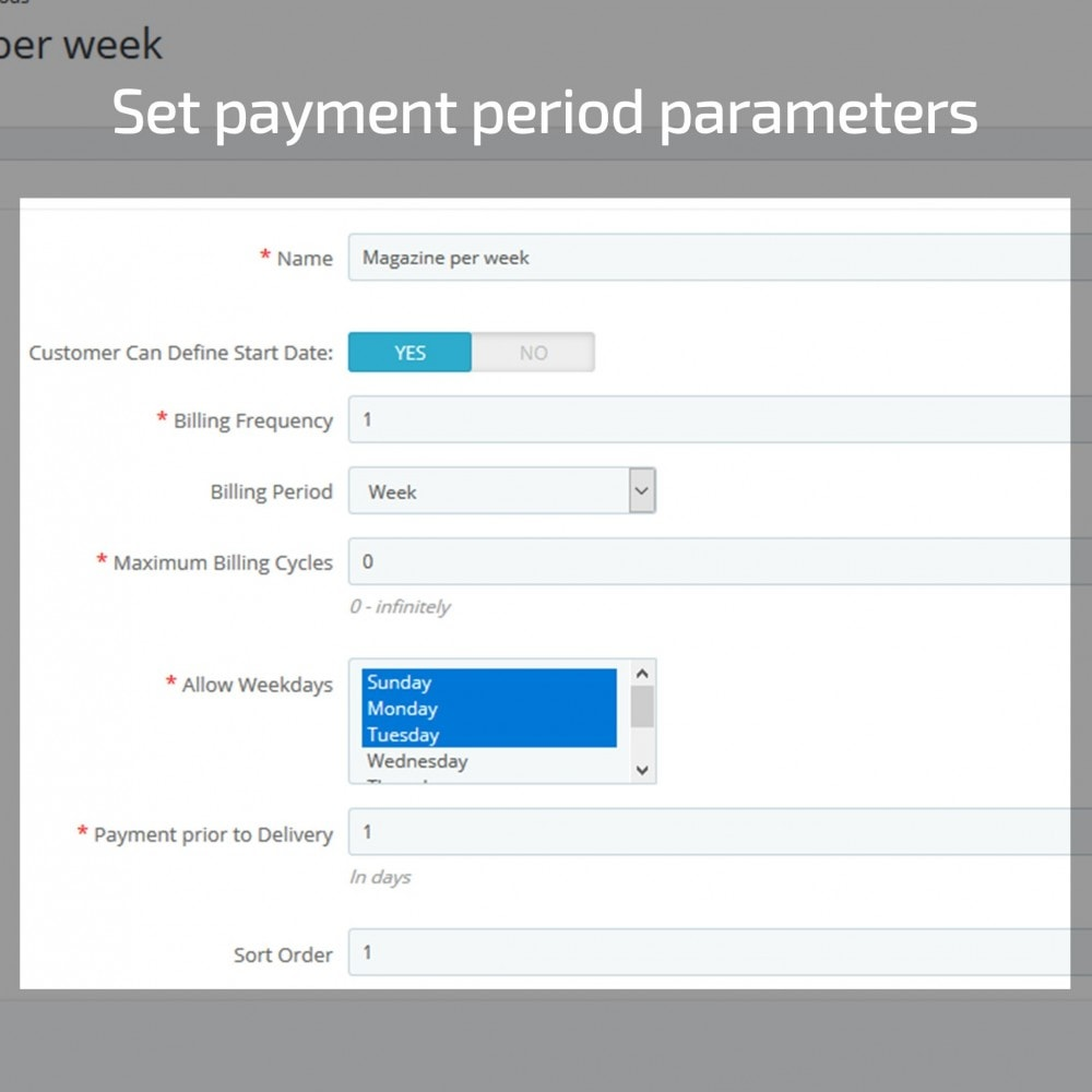 module - Recurring payment (subscription) - Recurring Payments and Subscriptions - 3