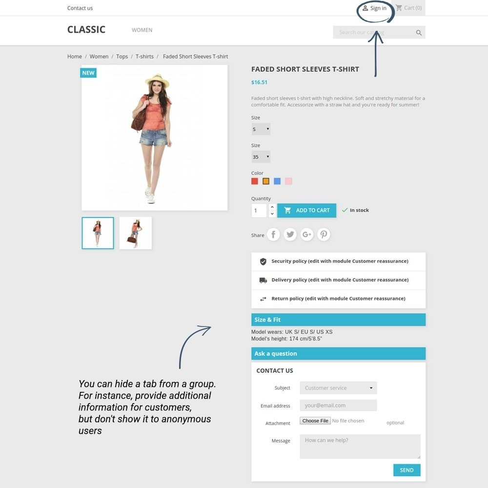 module - Additional Information & Product Tab - Product Tabs - 4