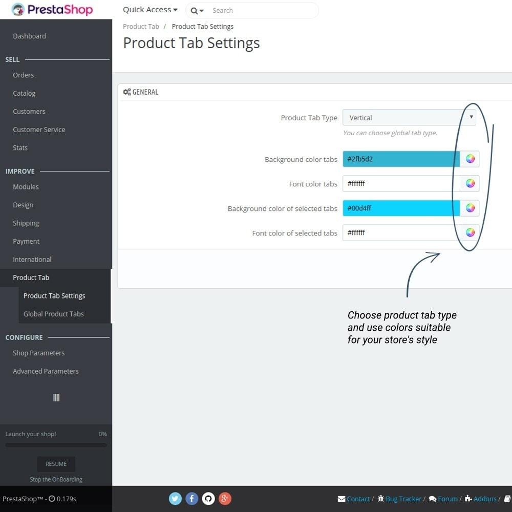 module - Altre informazioni & Product Tab - Product Tabs - 11