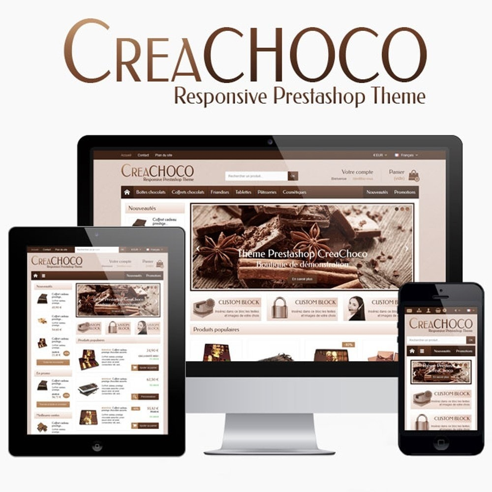 theme - Food & Restaurant - CreaChoco - 1