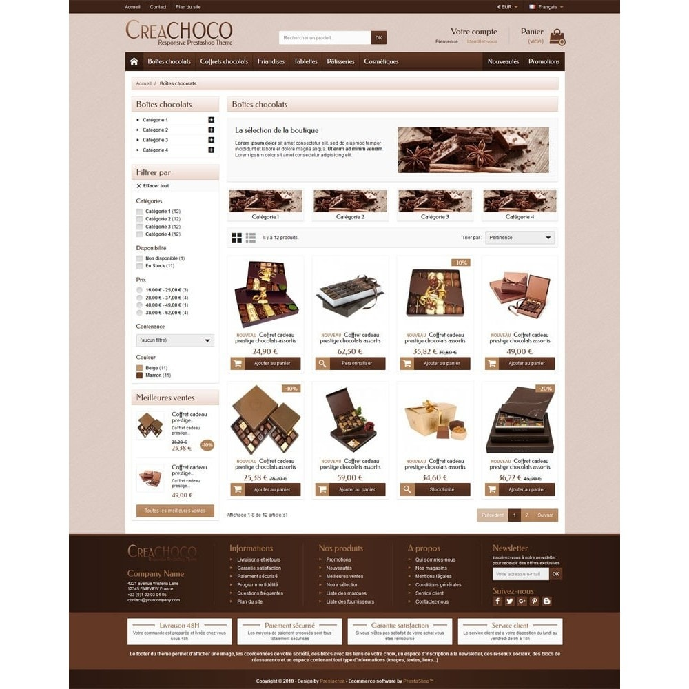 theme - Food & Restaurant - CreaChoco - 3