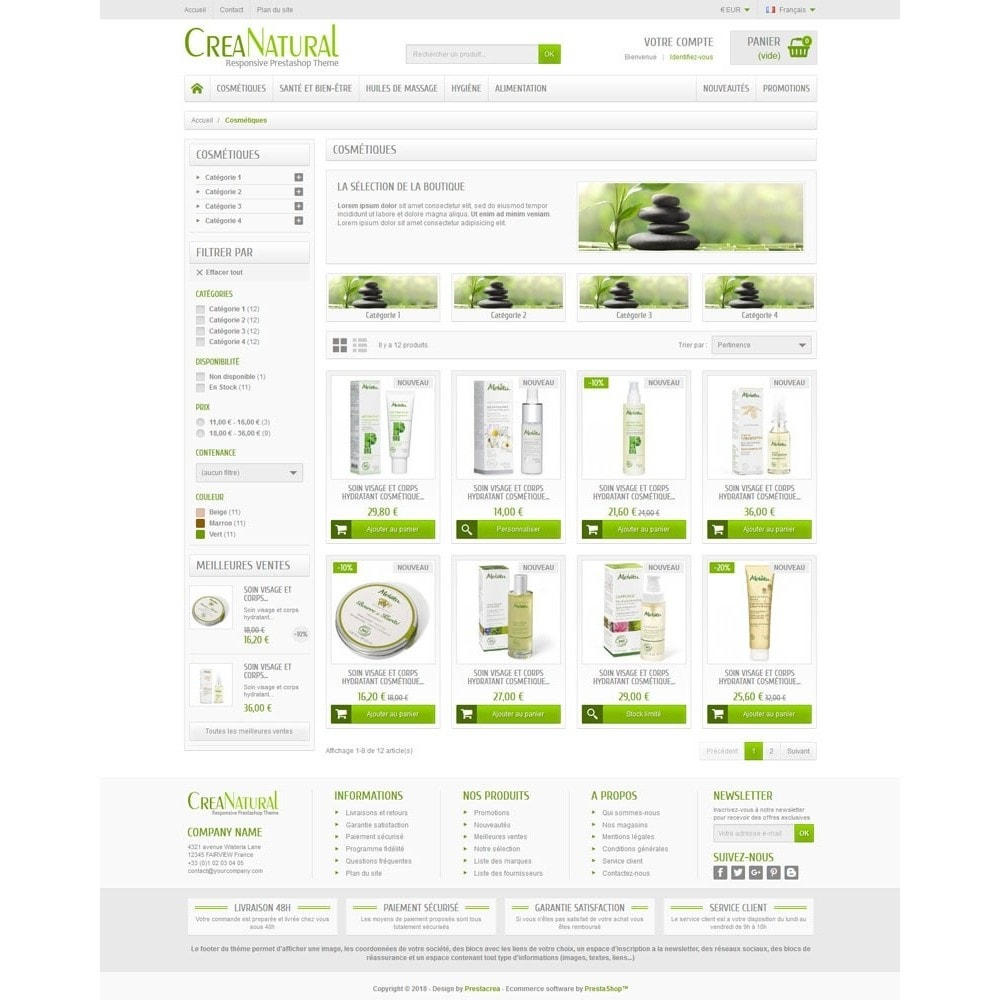 theme - Health & Beauty - CreaNatural - 3