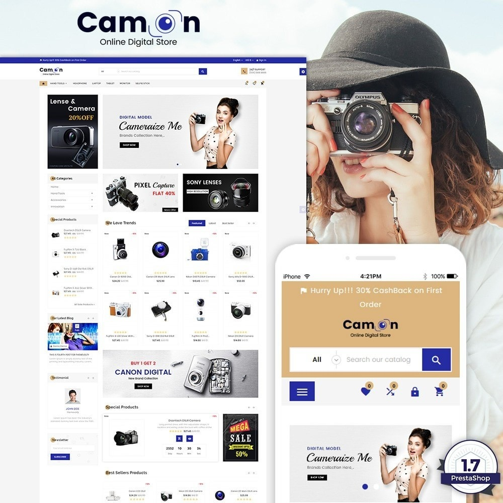theme - Eletrônicos & High Tech - Camon - Electronices Super Store v3 - 1