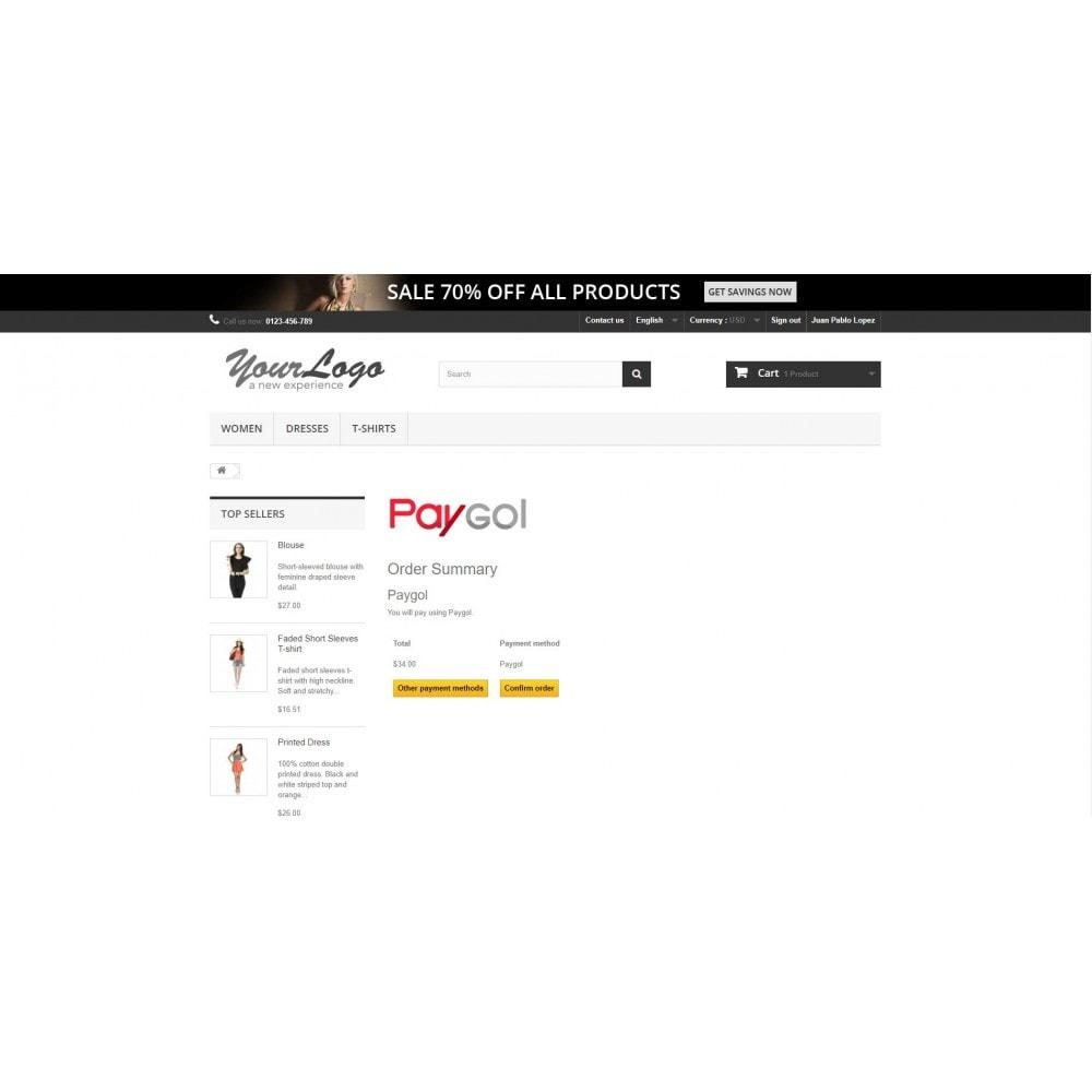 module - Оплата банковской картой или с помощью электронного кошелька - Paygol Online Payment Gateway - 1
